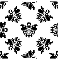 Elegance floral seamless pattern vector