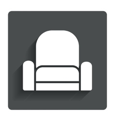 Armchair sign icon modern furniture symbol vector