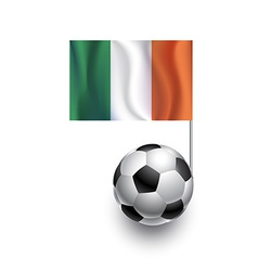 Soccer balls or footballs with flag of ireland vector