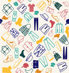 Colorful pattern of fashion men clothes vector