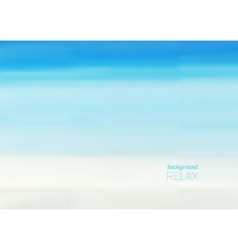 Beach and tropical sea vector