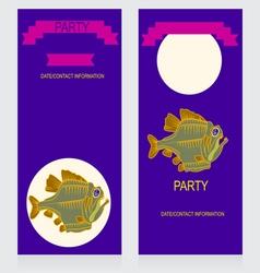 0615 15 piranha party v vector image