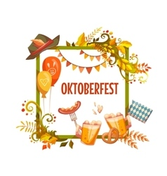 Banner for oktoberfest celebration beer and vector