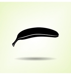 Banana icon one banana black silhouette with vector