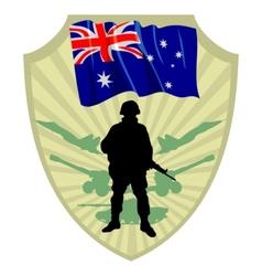 Army of Australia vector image vector image