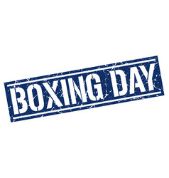 Boxing day square grunge stamp vector