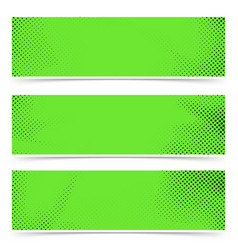 bright green old style pop art header flyer vector image