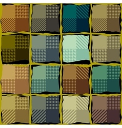 Brown plaid background vector image