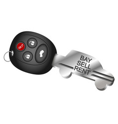 Car key symbol for the rental and sale vector