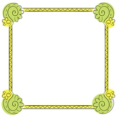 Childrens frame on white background vector