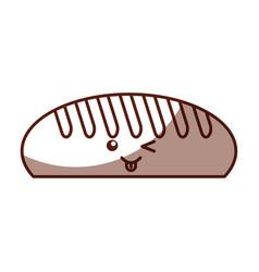 Delicious bread kawaii character vector