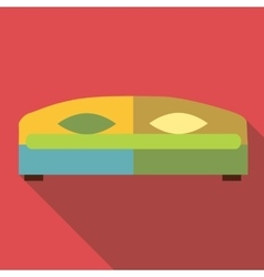 Double bed icon flat style vector