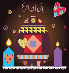 easter celebration post card vector image vector image