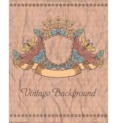 emblem on the vintage background vector image vector image