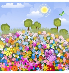 flower airfield vector image vector image
