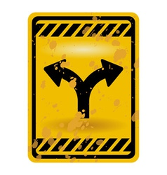Forked road sign vector image vector image