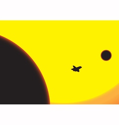 From earth to the moon vector
