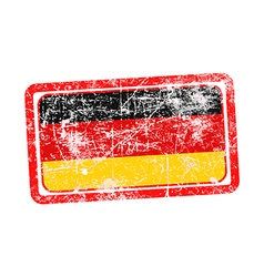 Germany flag red grunge rubber stamp vector