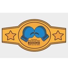 Glove boxing sport design vector