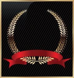 Golden laurel wreath vector