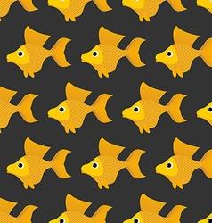 Goldfish seamless pattern background of fabulous vector