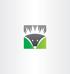 hedgehog logo icon vector image vector image