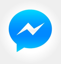 Instant message bubble icon vector