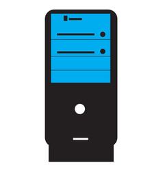 Isolated pc icon vector