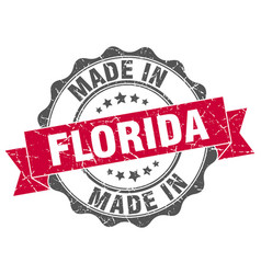 made in florida round seal vector image
