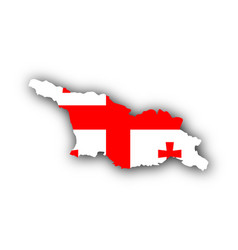 Map and flag of georgia vector