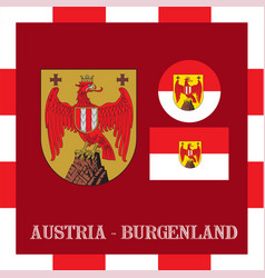 national ensigns of burgenland - austria vector image