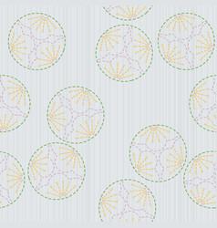 plum blossoms sashiko motif seamless pattern vector image