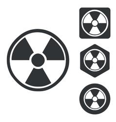 Radiohazard icon set monochrome vector