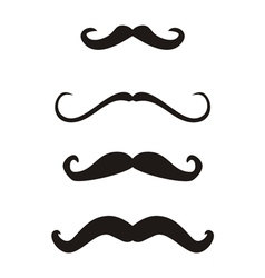 Set of curly vintage retro gentleman mustaches vector image vector image