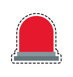 Siren device icon vector