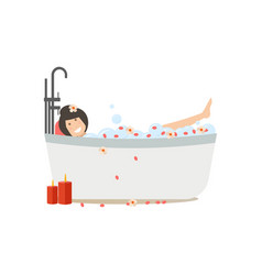 spa people concept flat vector image vector image