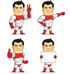 Superhero customizable mascot 3 vector