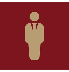 The business man icon avatar and user men vector