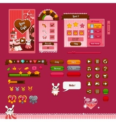 The design elements of the game interface vector image