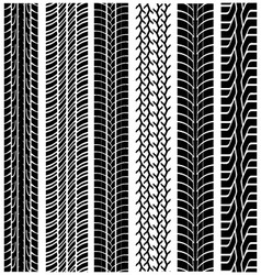 tread of cars vector image