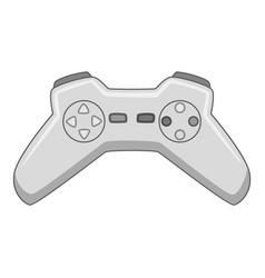 video game controller icon monochrome vector image