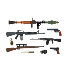 Weapons collection vector image vector image
