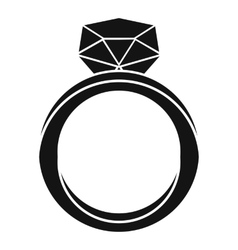Wedding ring icon simple style vector