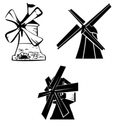 wind mill vector image vector image