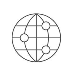 World network line icon vector
