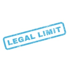 Legal limit rubber stamp vector