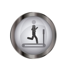 Isolated pictogram doing exercise design vector