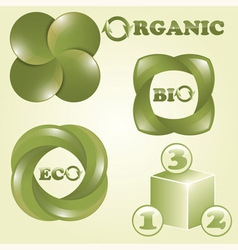 Eco bio and organic labels vector