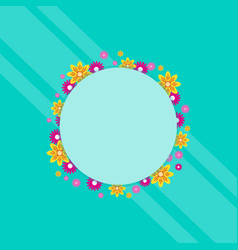 Frame with flower spring theme art vector
