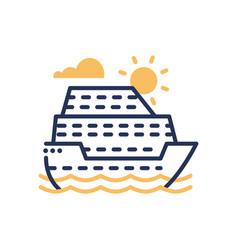 Passenger ship - modern single line icon vector